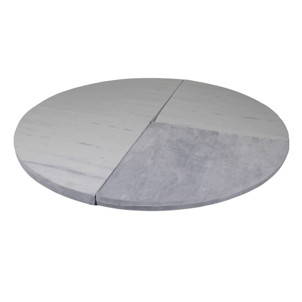 Opvouwbare Speelmat Rond | Soft Velvet Light Grey