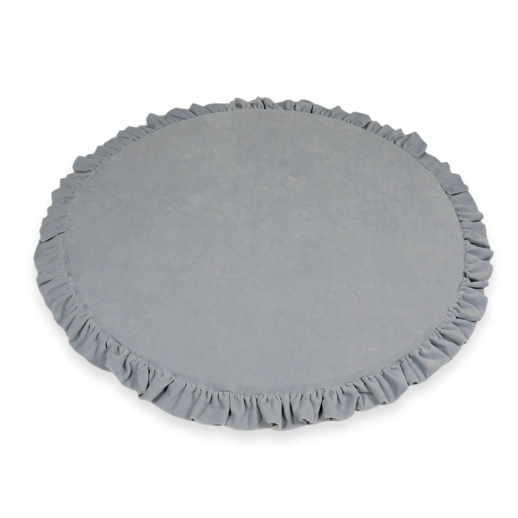 Speelmat Rond | Soft Velvet Light Grey