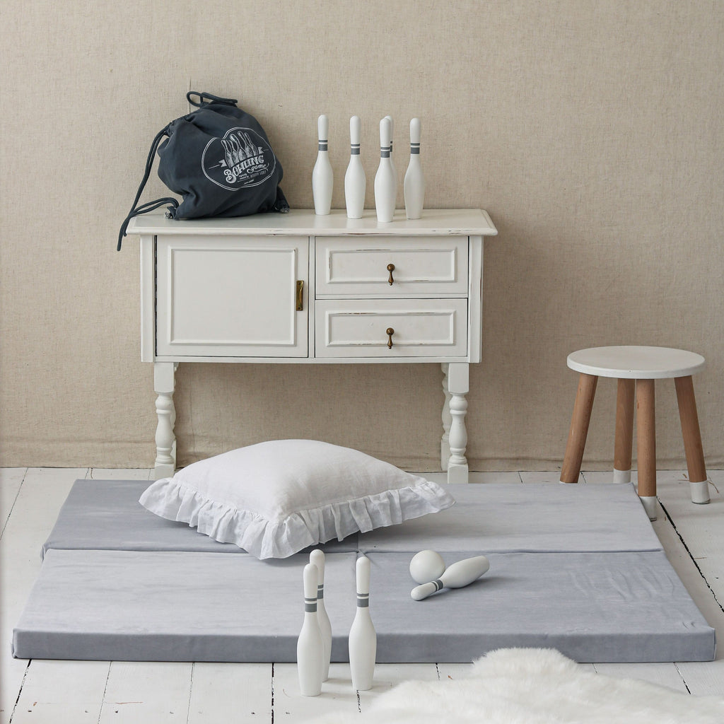 Opvouwbare Speelmat | Soft Velvet Light Grey