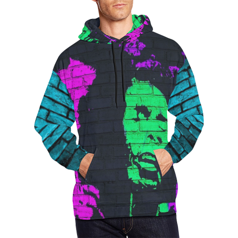 Graffiti Bob Marley All Over Print Hoodie