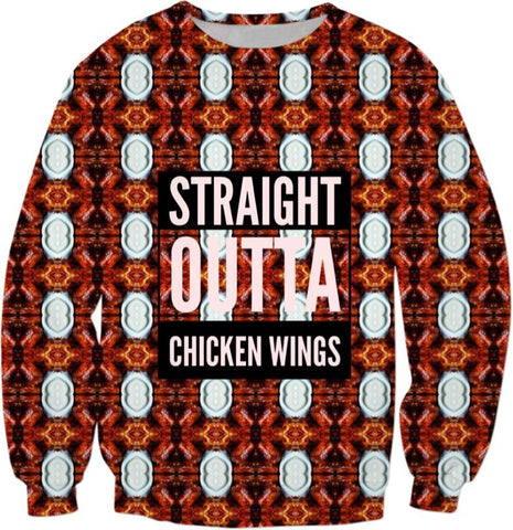 Straight Outta Chicken Wings Ugly Swear
