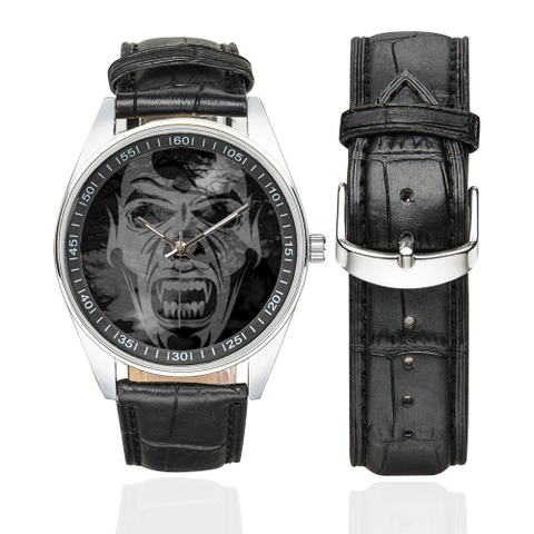 Vampire of Darkness Men's Casual Leather Strap Watch