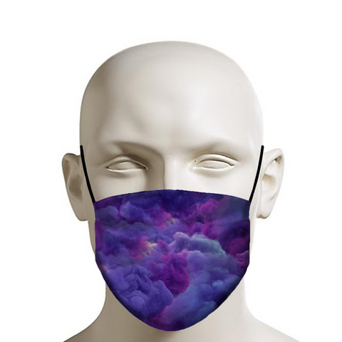 BLUE AND PURPLE SMOKE MASK
