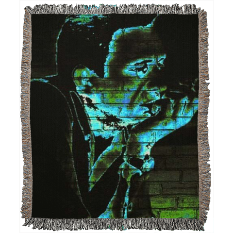 Graffiti The Man In Black Woven Blankets