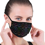 Smiley Face Rainbow Mouth Mask