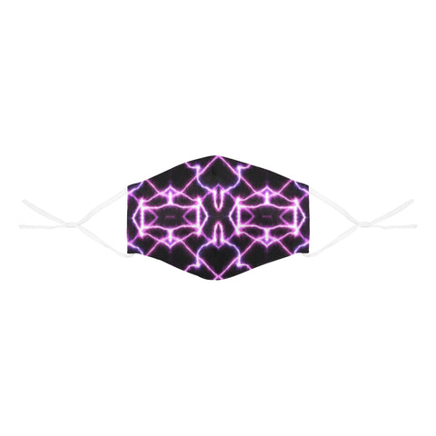 Spiderweb Pink  3D Mouth Mask with Drawstring