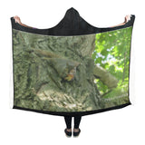 Crazy Squirrel Hooded Blanket 80''x56''