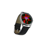 Acid Trip Zombies are Coming Men's Casual Leather Strap Watch