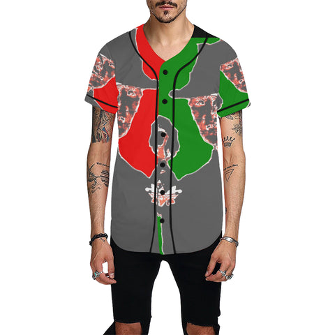 Nightmare on Color Block All Over Print Baseball Jersey