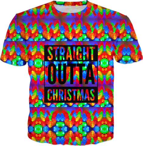 straight Outta Christmas T-shirt