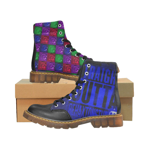 Straight Outta Rehaxtonstudios Blue Logo Men's Winter Boots