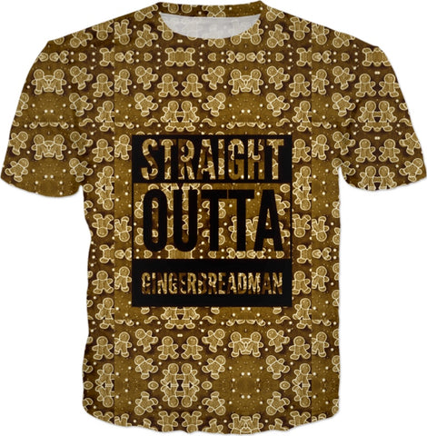 Straight Outta Gingerbread Cookie T-shirt