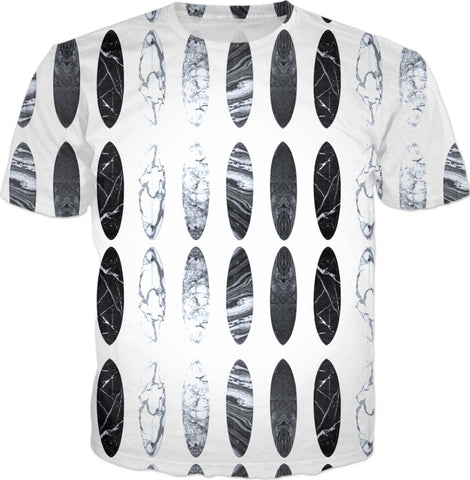 Black And White Surf Up  T-shirt