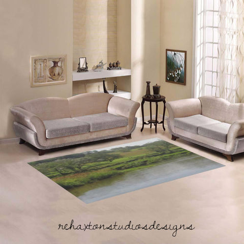 river picture  Area Rug 5'x3'3''