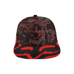 Red /Black Fox 4 Wheeler All Over Print Snapback Hat