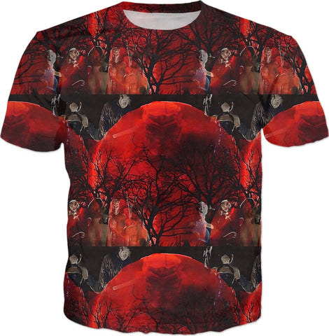 Jason X Blood Moon All-over T-shirt