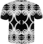 Black And White Scorpion All Over T-shirt