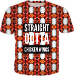 Straight Outta Chicken Wings T-shirt