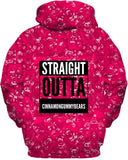 Power Of Pink Straight Outta Cinnamon bears Hoodie
