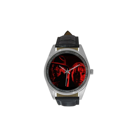 Freddy is Watching You Men's Casual Leather Strap Watch