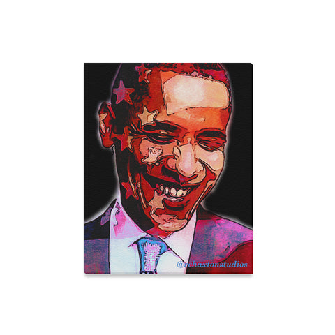 "Barak Obama Canvas Print 16""x20"""