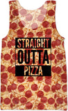 Straight Outta Pizza tank