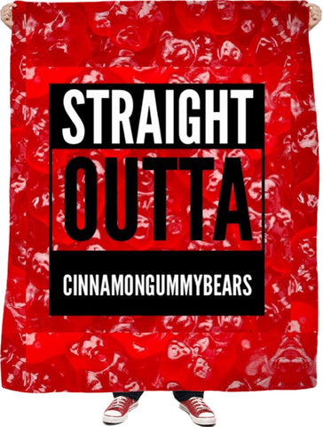 Straight Outta Cinnamon Gummybears Fleece Blanket