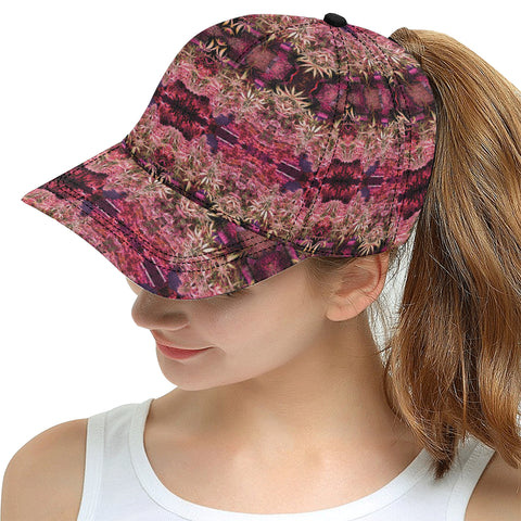 Red Weed Plant All Over Print Snapback Hat
