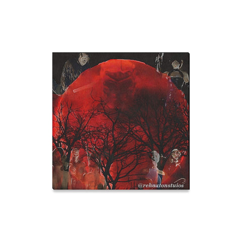 "jason x blood moon Canvas Print 16""x16"""