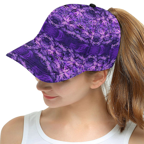 Purple haze Weed Plant All Over Print Snapback Hat