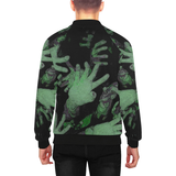 Zombies are Coming Hands Men's All Over Print Baseball Jacket