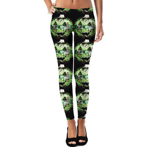 Green Slashing Pumpkins Leggings