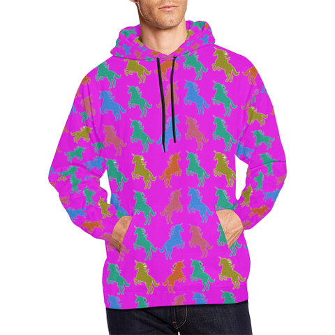 Pink Unicorn All Over Print Hoodie