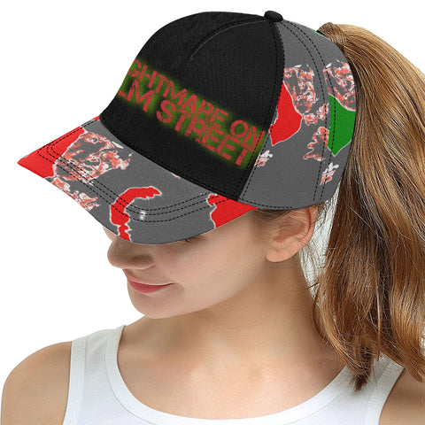 Nightmare On Elm Street Color Block All Over Print Snapback Hat