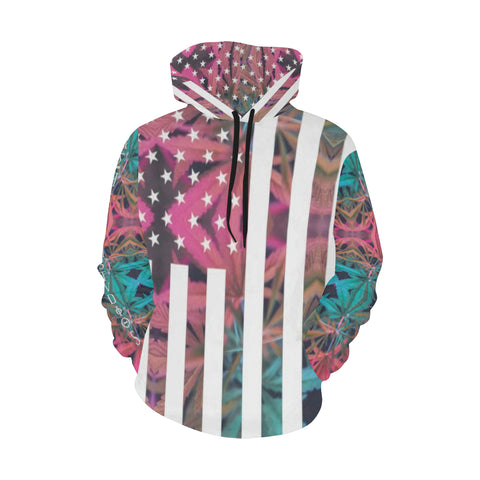 American High All Over Print Hoodie for Men/Large Size