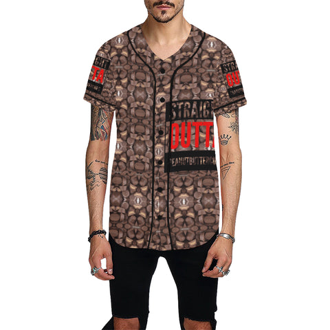 Straight Outta Peanut Butter Cups All Over Print Baseball Jersey