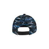 Blue foxx All Over Print Snapback Hat
