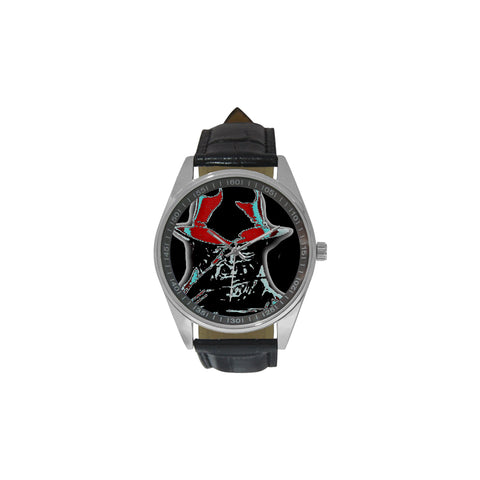 Acid Trip Freddy Men's Casual Leather Strap Watch