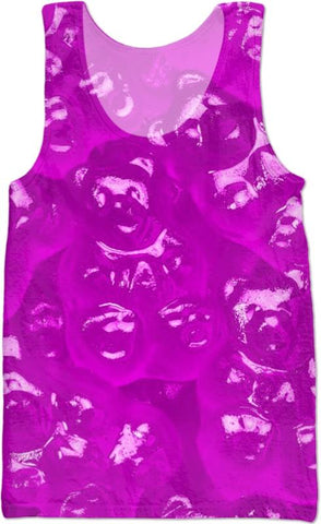 Purple And Green gummy bear Tank