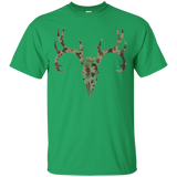Camo Deer Head Gildan Ultra Cotton T-Shirt