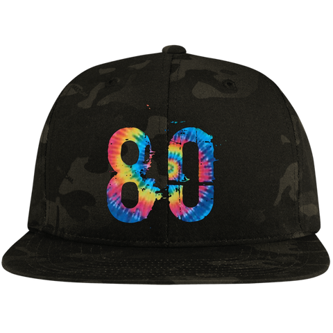 Summertime Rainbow 80 Sport-Tek Flat Bill High-Profile Snapback Hat