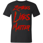 Zombie Life's Matter Unisex Made in the USA Jersey Short-Sleeve T-Shirt
