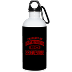 Property of Rehaxtonstudios (Red) 20 oz. Stainless Steel Water Bottle