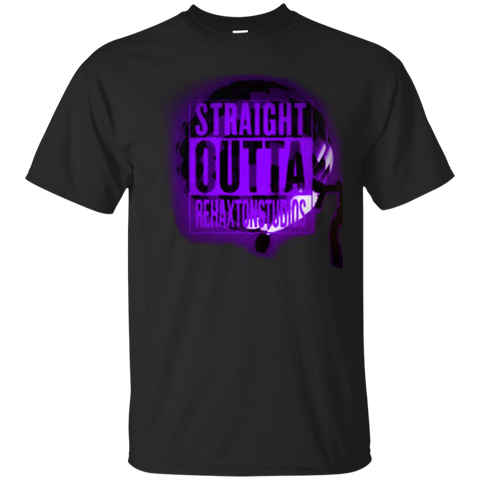 Straight Outta Rehaxtonstudios Purple Gildan Ultra Cotton T-Shirt