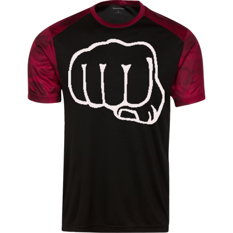 Be a Savage Sport-Tek CamoHex Colorblock T-Shirt