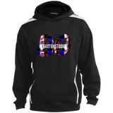 Rehaxtonstudios Horror Logo  Sport-Tek Youth Sleeve Stripe Hooded Pullover