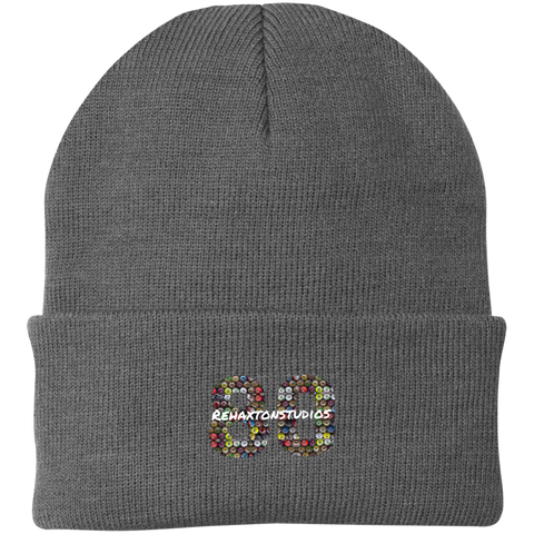 Graffiti Can Logo Port Authority Knit Cap