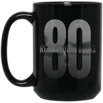 Silver Logo Transparent 15 oz. Black Mug