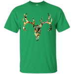 Camo Realtree Deer Head Gildan Ultra Cotton T-Shirt