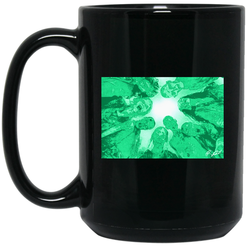 Zombies are Coming 15 oz. Black Mug